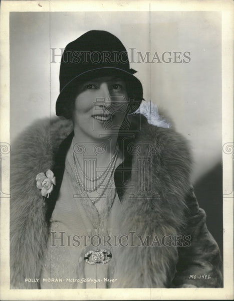 1935 Press Photo Polly Moran Actress comedian vaudevill - Historic Images