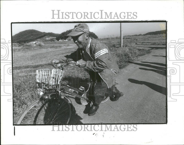 1991 Press Photo Japan rice farming food imports - Historic Images
