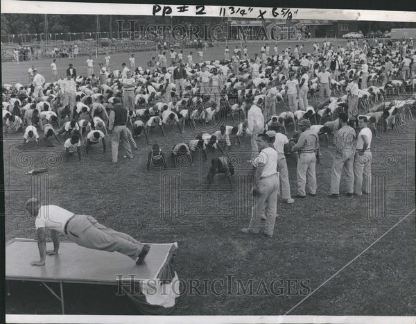 1957 Press Photo Olympic Games ? Junior - Historic Images