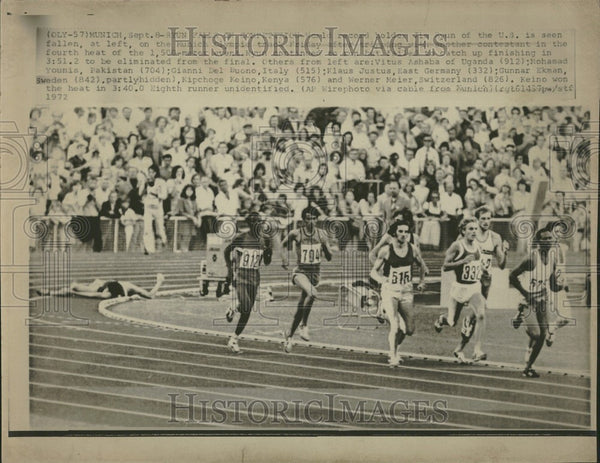 1972 Press Photo Munich Olympics 1500m - Historic Images