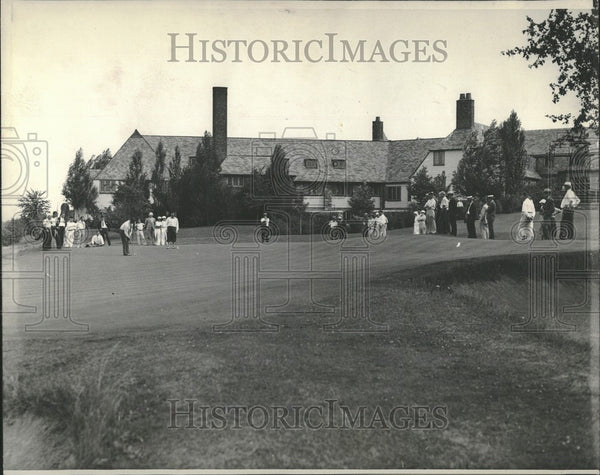 1933 Press Photo Franklin Hills country club clubhouse - Historic Images