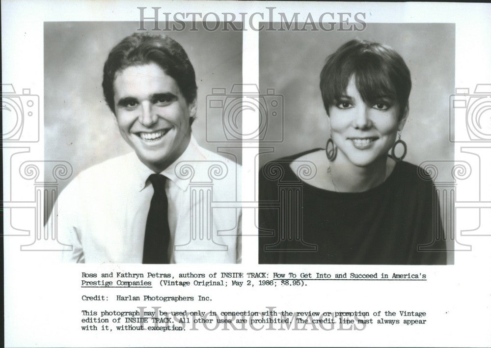 Press Photo Ross and Kathryn Petras - Historic Images