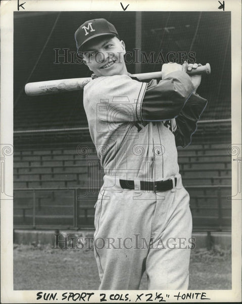 1957 Press Photo Kenneth Tippery, baseball, Dearborn - Historic Images