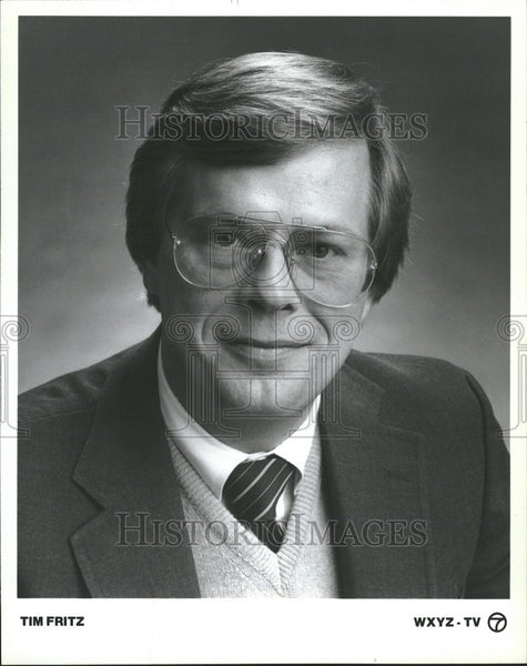 Press Photo Tim Fritz Reporter Action News - Historic Images