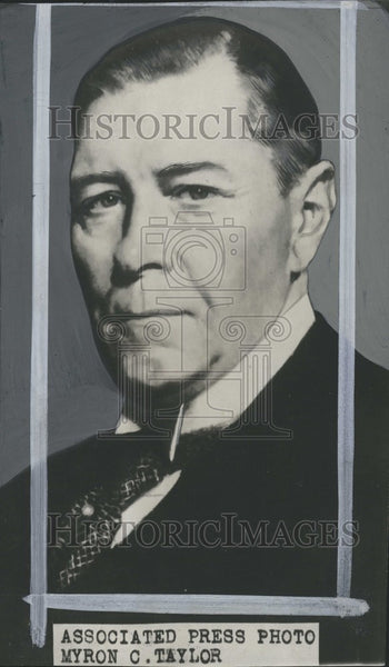 1929 Press Photo Myron C, Taylor major . - Historic Images