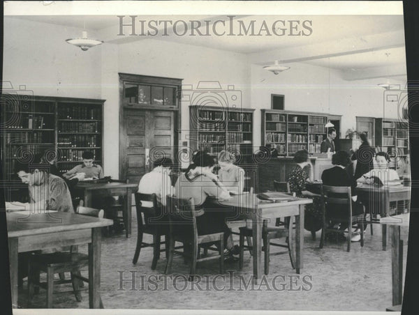 1938 Press Photo Ferris Institute Library - Historic Images