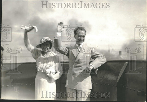 1933 Press Photo Governor General Murphy Manila Ship - Historic Images