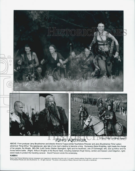 "2004 Press Photo scenes from Bruckheimer's ""King Arthur"" star Keira Knightley - Historic Images"