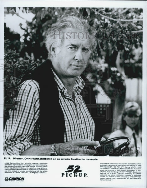 1986 Press Photo John Frankenheimer Directs 52 Pickup - Historic Images
