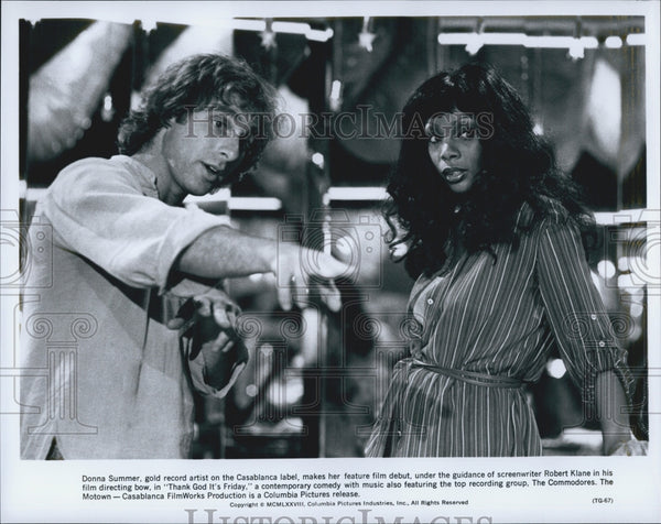 "1978 Press Photo ""Thank God It's Friday"" Donna Summer & writer Robert Klane - Historic Images"