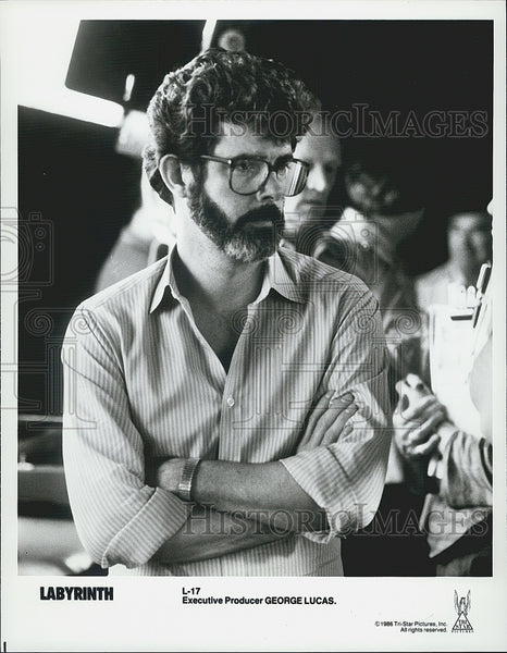 "1986 Press Photo George Lucas Executive Producer of ""Labyrinth"" - Historic Images"