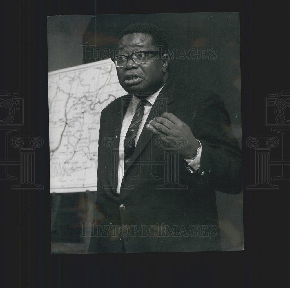 1968 Press Photo Mr. Mojekwu/Biafran Home Affairs Minister - KSB01417 - Historic Images