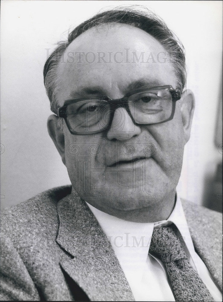 Press Photo Former Deputy Christian Democratic Union Julius Steiner Candid - Historic Images