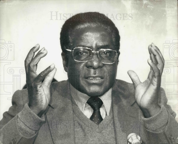 1980 Press Photo Zimbabwe Lord Soames invited Robert Mugabe form government - Historic Images