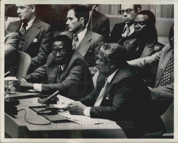 1978 Press Photo Robert Mugabe and Joshua Nkomo, UN Security Council - KSB04687 - Historic Images