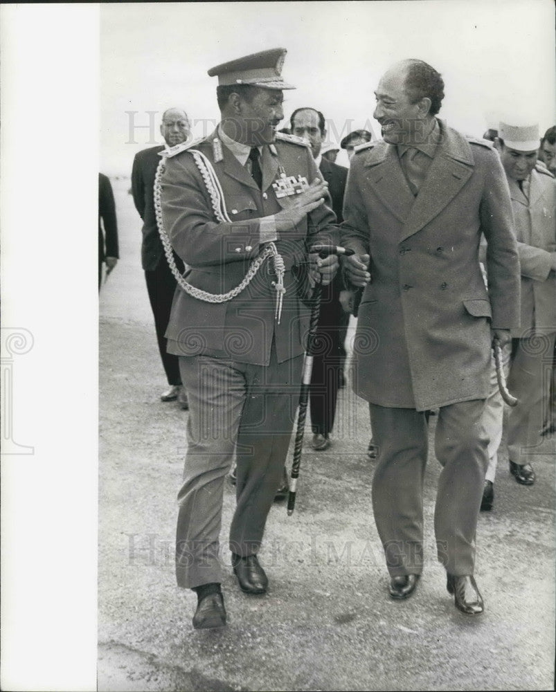 1974 Anwar Sadat of Egypt & Jaafar Numeiry of Sudan - Historic Images