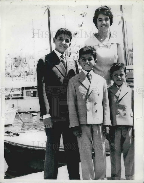 1960 Press Photo President Nasser 's four children - KSB07889 - Historic Images