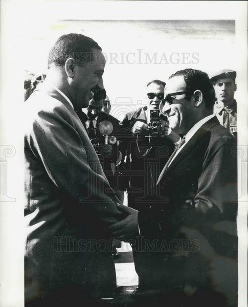 1967 Press Photo Yemeni Premier Moesein El Einy &Tallaat Khairy - KSB08203 - Historic Images