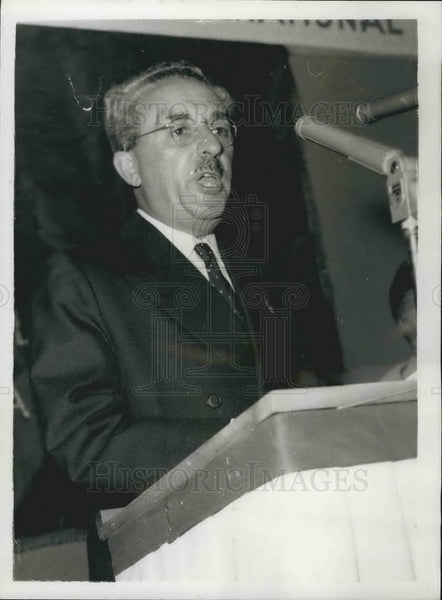 1960 Press Photo Former Israeli Prime Minister M. Sharet Opening Speech - Historic Images