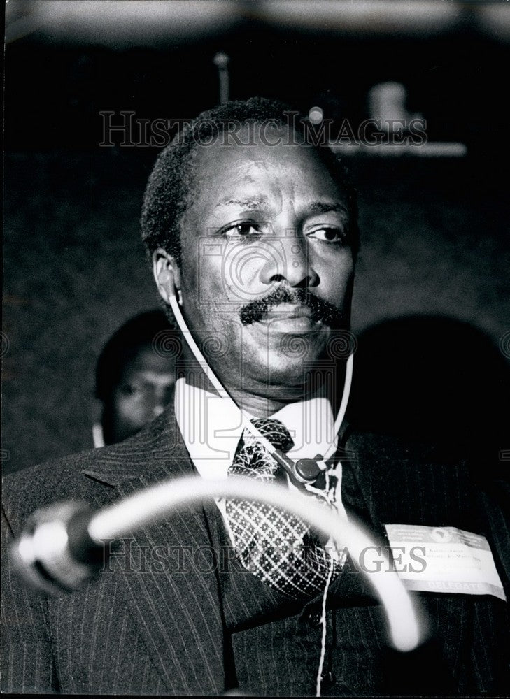 Minister of State, Foreign Affairs, Uganda, Mativa Lubega - Historic Images