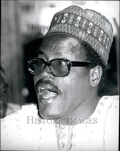Press Photo Major-General Mohammed Shuwa of Nigeria - KSB38641 - Historic Images
