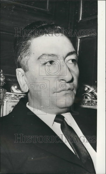 1972 Egypt's Premier. Dr. Aziz Sidky - Historic Images