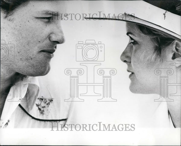 1979 Press Photo Actor Kurt Russell & Actress Season Hudley In Elvis Movie - Historic Images
