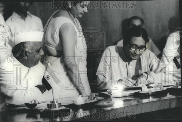 1975 Press Photo Union Minister for Commerce DP Chattopadhyaya - KSB73383 - Historic Images