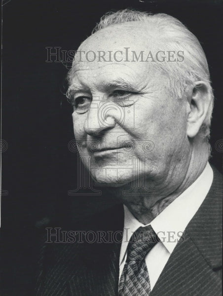 Press Photo Minister of the Interior & Decentralization Mr. Gaston Defferre - Historic Images