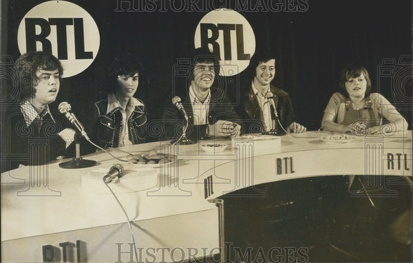 1973, Osmond Brothers Give a Press Conference in Paris - Historic Images