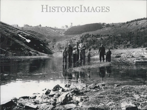 1956 Press Photo  Oker Dam sinks Old German Village. - Historic Images