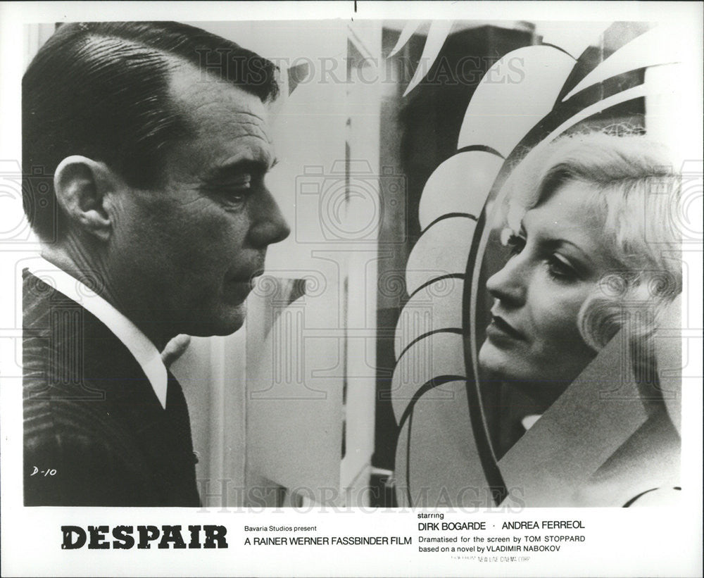 "Andréa Ferréol 1978 press photo dirk bogarde, andrea ferreol ""despair"""