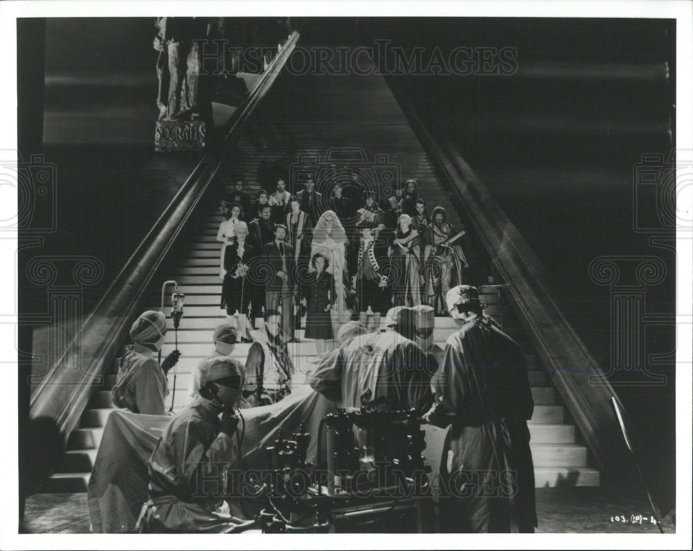 1946 Press Photo Matter Life Death Stairway Heaven Romantic Fantasy Film Scene - Historic Images