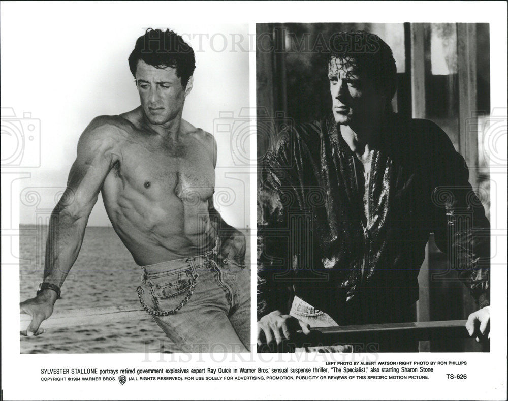Sylvester Stallone Stars In The Specialist 1994 Vintage Promo Photo Print Historic Images