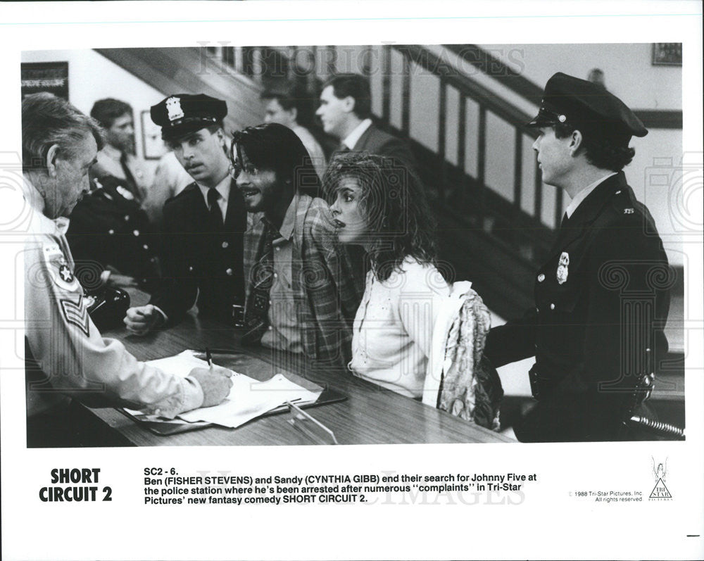 1988 Press Photo Film Short Circuit 2 Cynthia Gibb Fisher Stevens Shortcircuit2 Historic Images
