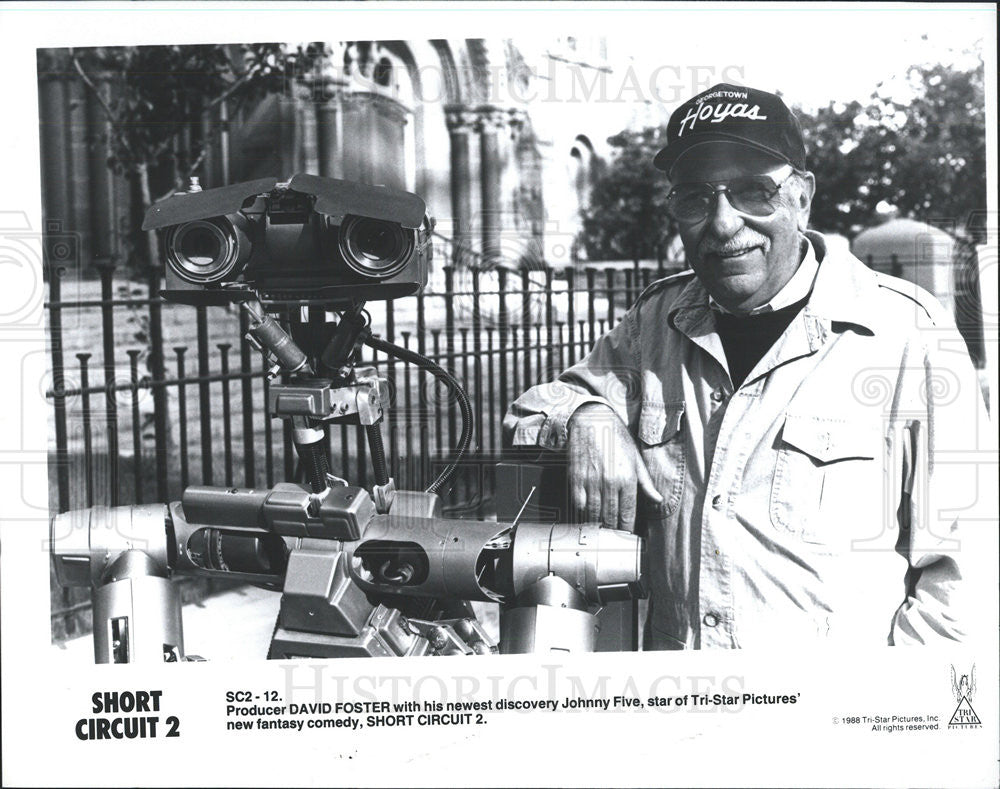 Film Short Circuit 2 Producer David Foster 1988 Vintage Promo Photo Johnny Five Press Historic Images
