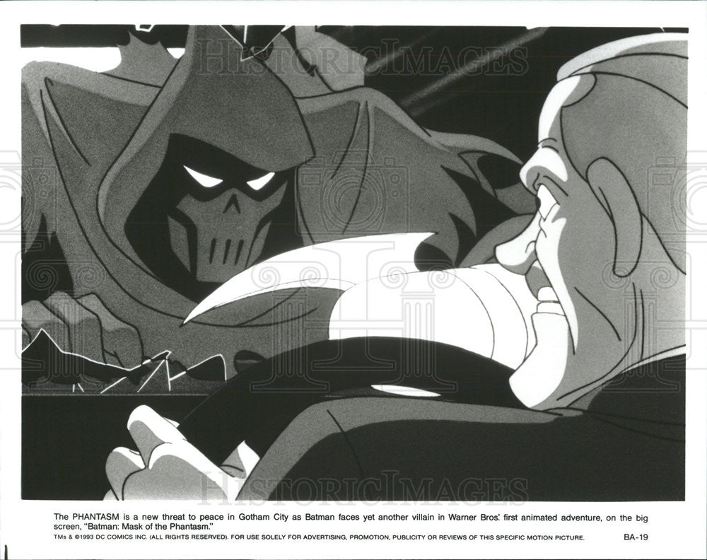 1993 Press Photo Warner Bros Batman: Mask of the Phantasm - Historic Images