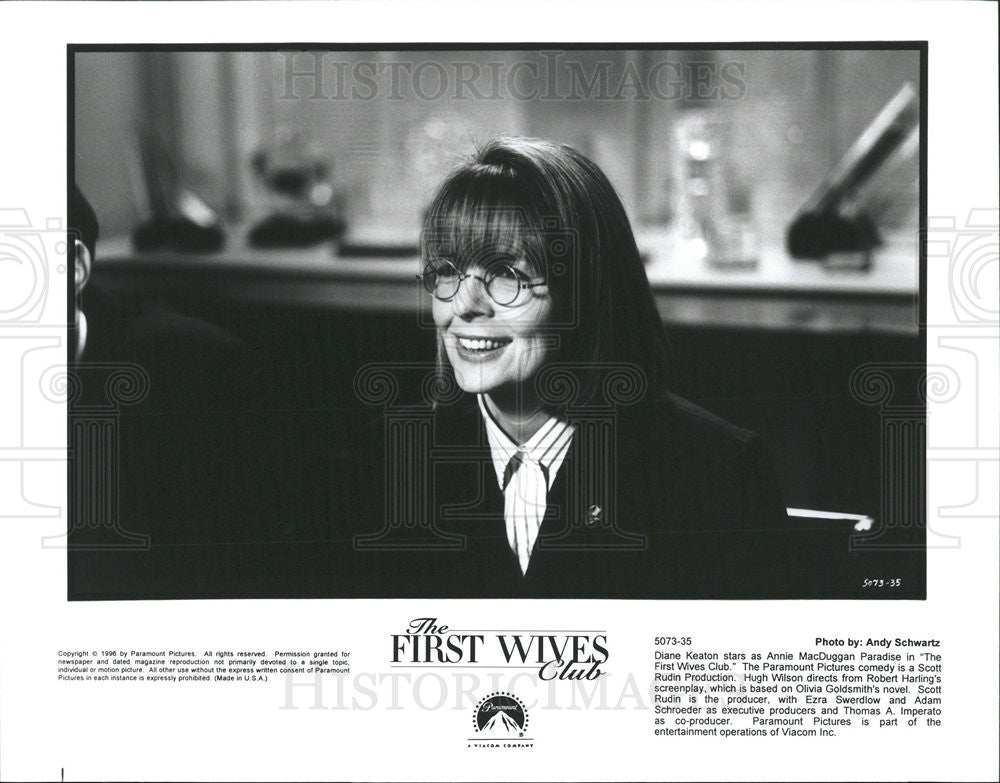 Diane Keaton In A Scene From The First Wives Club 1996 Vintage Promo