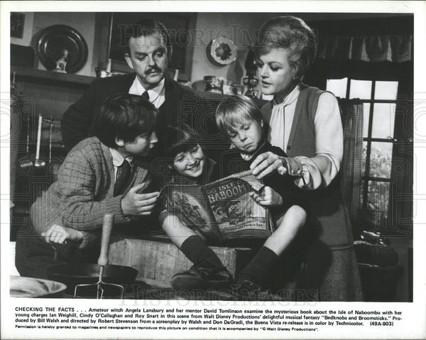 1971 Press Photo Bedknobs and Broomsticks Angela Lansbury David Tomilson Roy - Historic Images