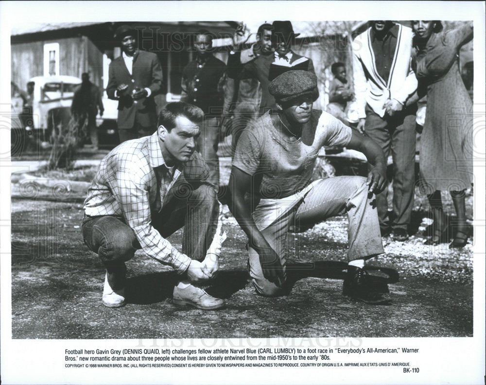 1988 Press Photo Dennis Quaid Carl Lumbly Star In Everybodys All American
