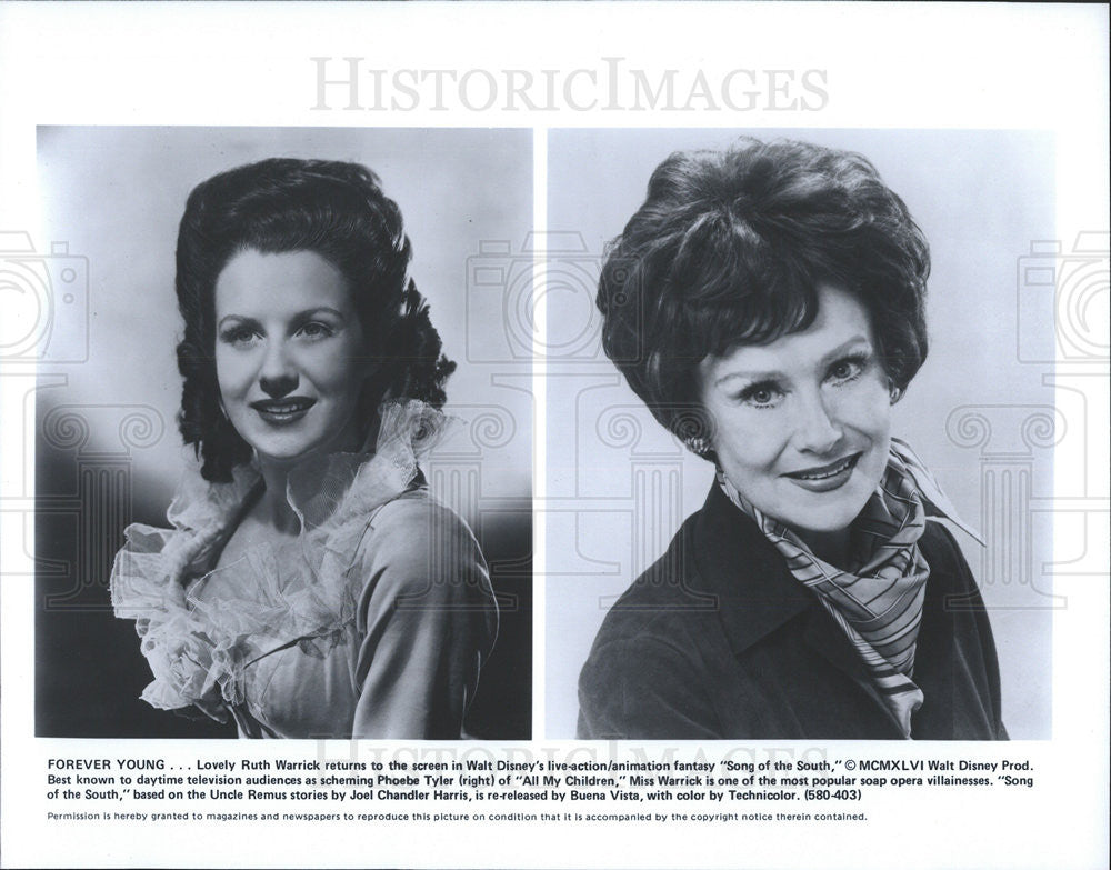 1946 Press Photo Ruth Warrick Actress Action Animation Fantasy Disney Song South - Historic Images