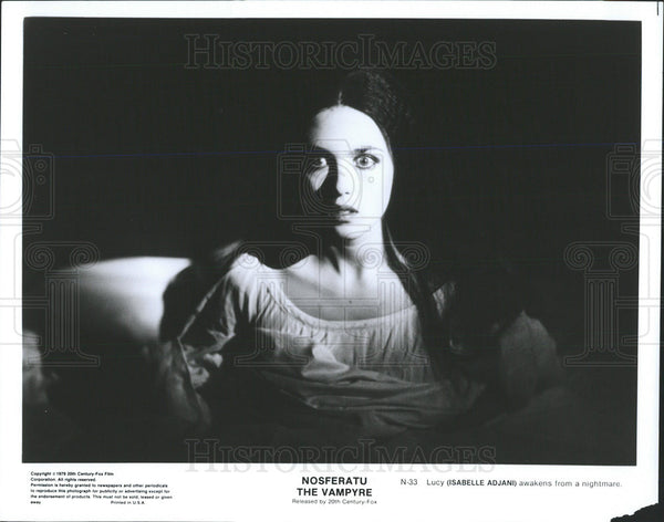 1979 Press Photo Isabelle Adjani Actress Nosferatu Vampyre - Historic Images