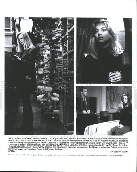 Press Photo Goldie Hawn John Head Actors Deceived - Historic Images