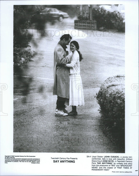 1989 Press Photo John Cusack Actor Ione Skye Actress Say Anything Film Movie - Historic Images