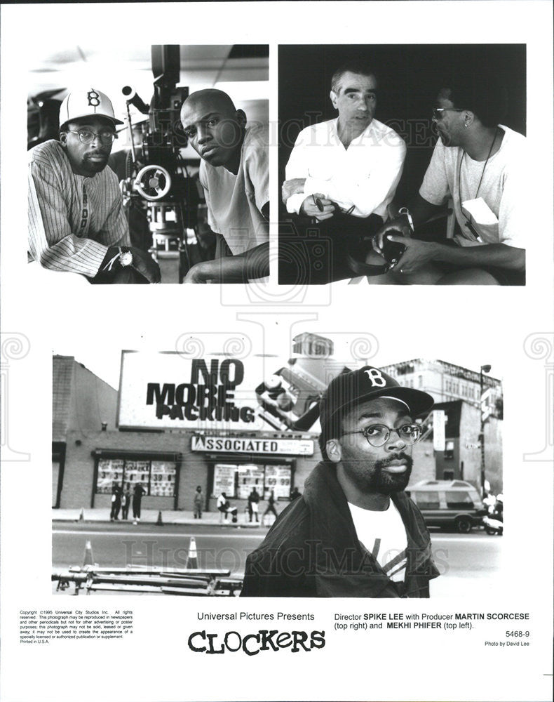 1995 Press Photo Clockers director Spike Lee producer Martin Scorcese Mekhi - Historic Images