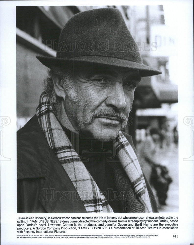 1989 Press Photo Family Business Sean Connery - Historic Images