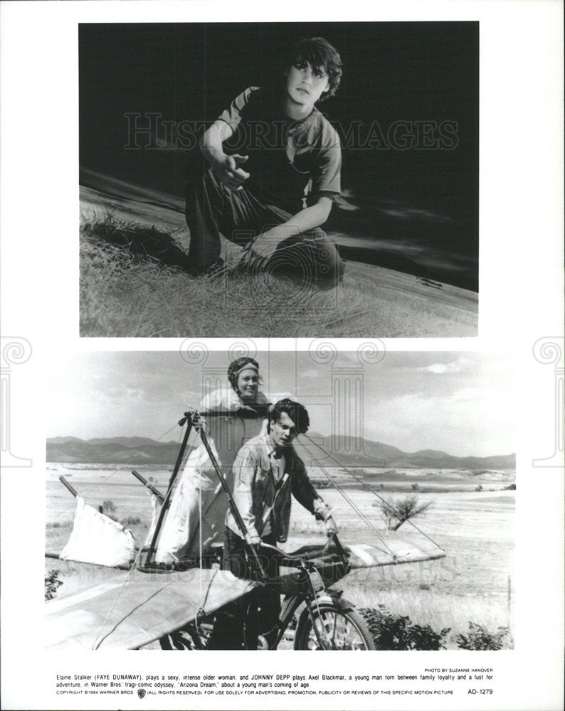 1994 Press Photo Film Arizona Dream Faye Dunaway Johnny Depp - Historic Images