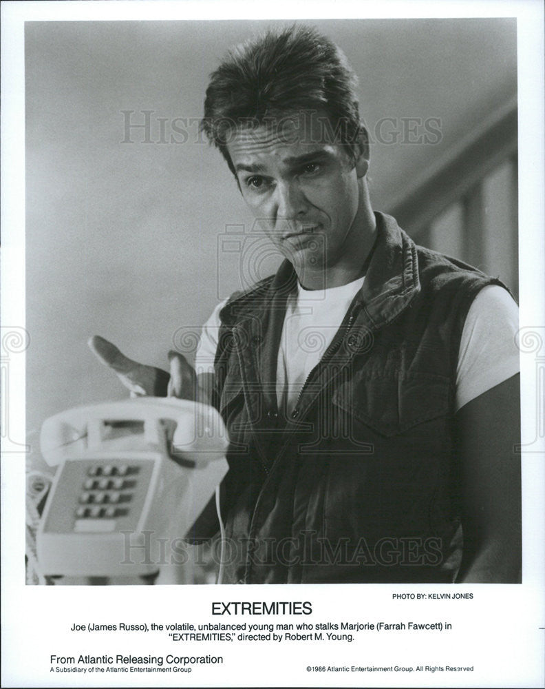 1986 Press Photo James Russo Extremities - Historic Images