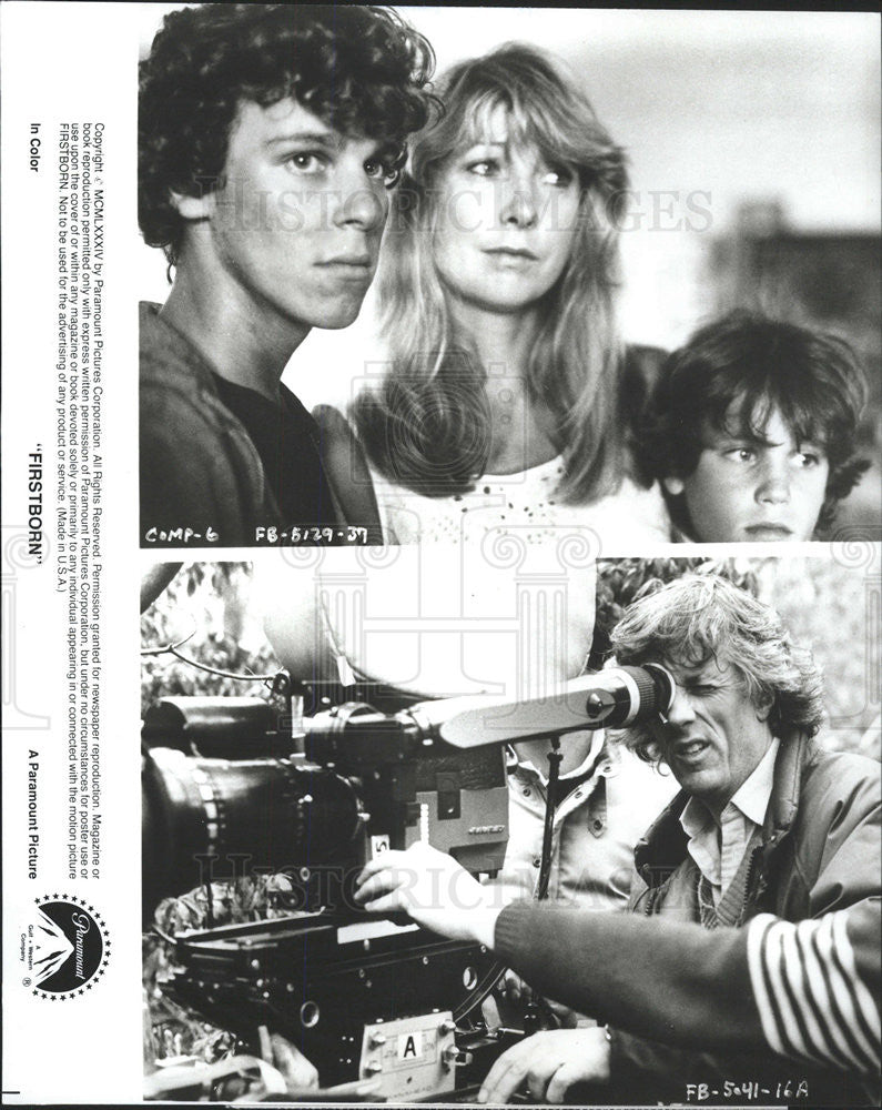 "1984 Press Photo Christopher Collet, Teri Garr, Corey Haim Star In ""Firstborn"" - Historic Images"