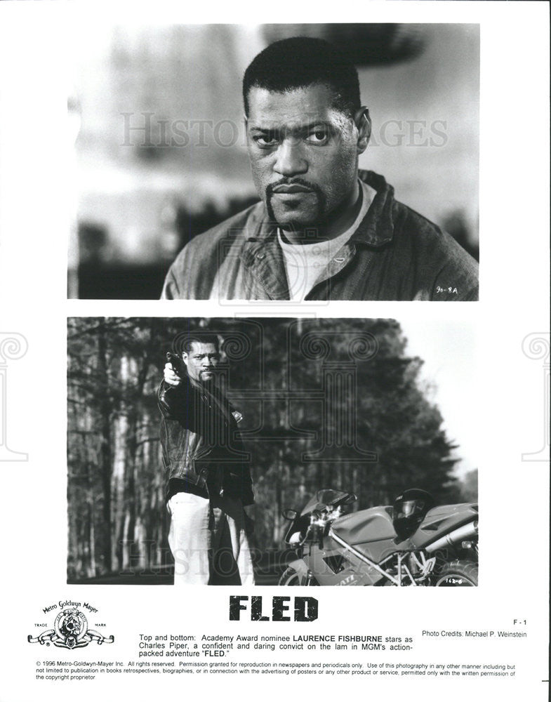 1996 Press Photo Laurence Fishburne Fled - Historic Images